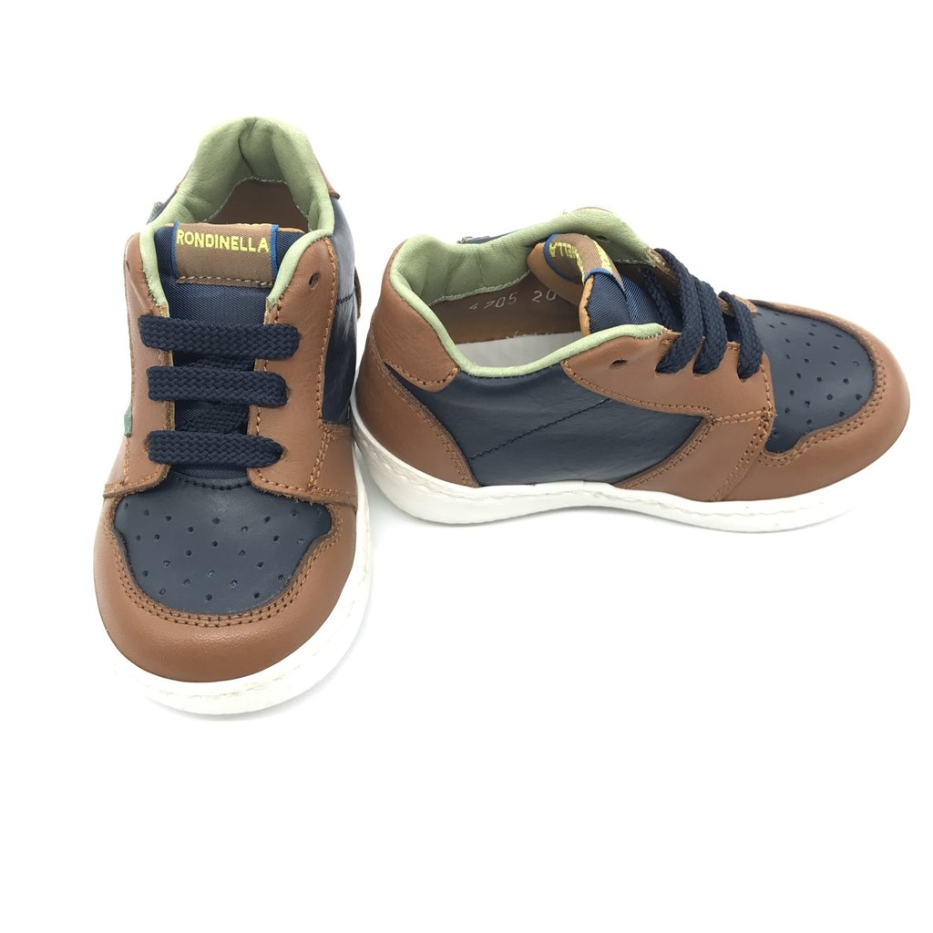 RONDINELLA RONDINELLA FIRST SNEAKER CAMEL NAVY