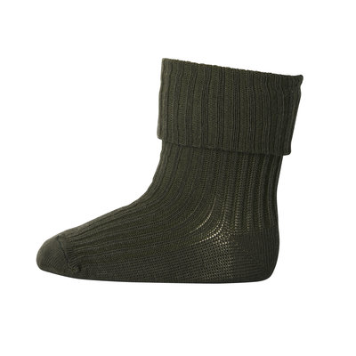 MP DENMARK MP COTTON RIB BABY SOCKS DARK ARMY