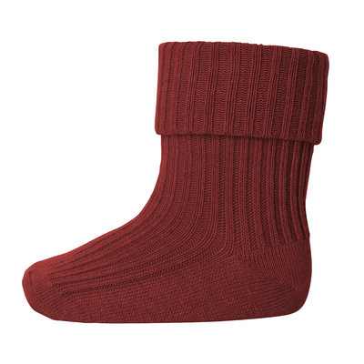 MP DENMARK MP COTTON RIB BABY SOCKS DUSTY BRICK