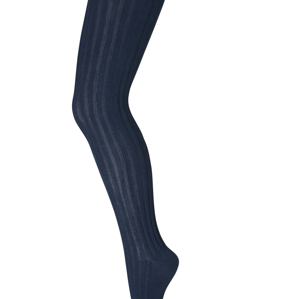 MP DENMARK MP TIGHTS COTTON RIB PETROL BLUE