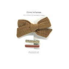 FIVE-ELEVEN FIVE-ELEVEN 3 CLIPS FOREVER BOW BROWN SUGAR