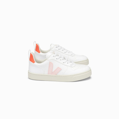 VEJA VEJA V10 LACE WHITE PETALE ORANGE FLUO