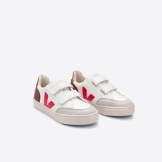 VEJA VEJA V12 JUNIOR VELCRO WHITE MULTI DRIED P