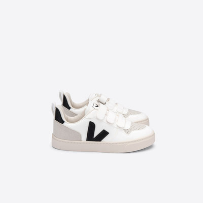 VEJA VEJA V10 JUNIOR VELCRO CWL WHITE BLACK