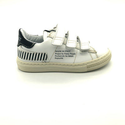 MOMINO MOMINO SNEAKER VELCRO BLACK&WHITE LEFT/RIGHT