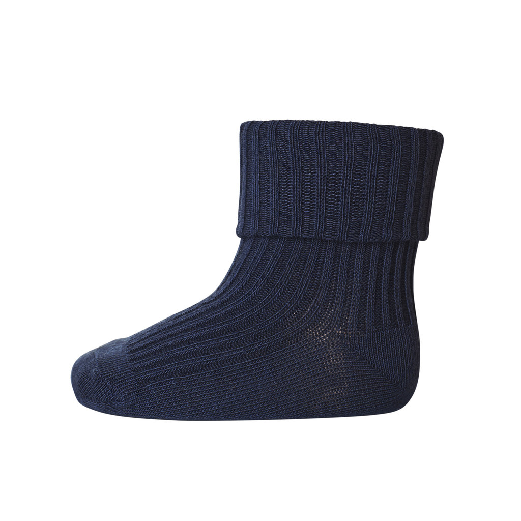 MP DENMARK MP COTTON RIB BABY SOCKS INDIGO BLUE