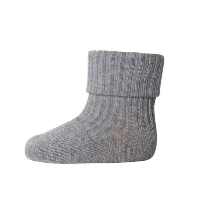 MP DENMARK MP COTTON RIB BABY SOCKS GREY MELANGE