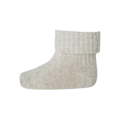 MP DENMARK MP COTTON RIB BABY SOCKS CREME MELANGE