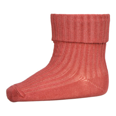 MP DENMARK MP COTTON RIB BABY SOCKS MARSALA