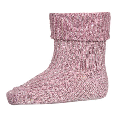 MP DENMARK MP IDA GLITTER SOCKS WISHFUL ROSE