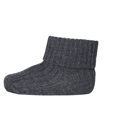 MP DENMARK MP COTTON RIB BABY SOCKS DARK GREY