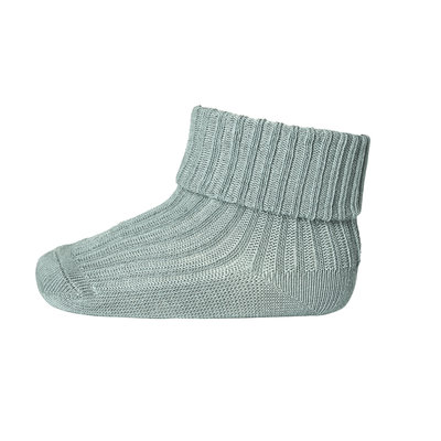 MP DENMARK MP COTTON RIB BABY SOCKS STORMY SEA
