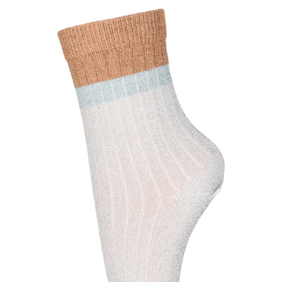 MP DENMARK MP NORMA GLITTER SOCKS ROSE ECRU