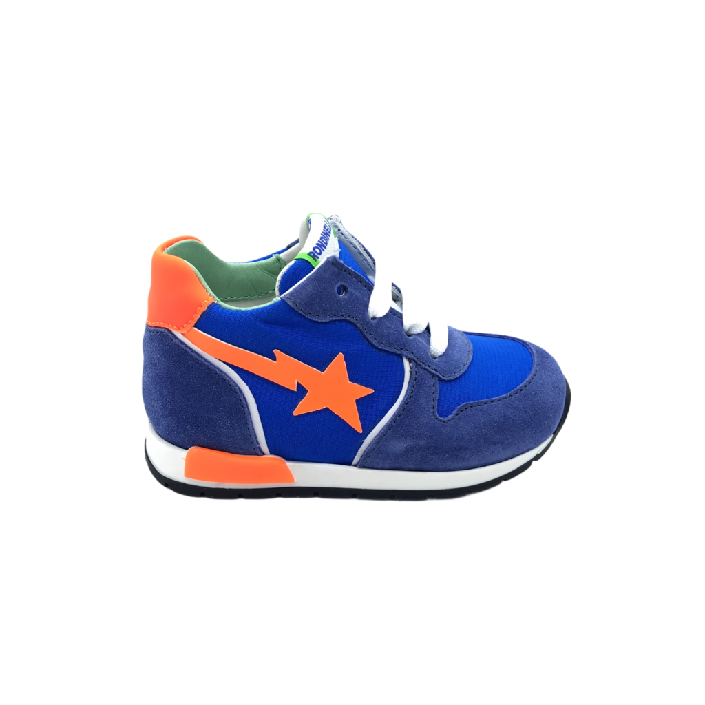 RONDINELLA RONDINELLA FIRST SNEAKER ELECTRIC BLUE ORANGE