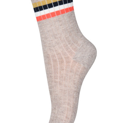 MP DENMARK MP AKSEL SOCKS LIGHT BROWN