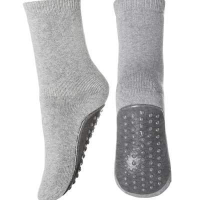 MP DENMARK MP COTTON SOCKS ANTI-SLIP GREY MELANGE