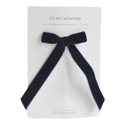 FIVE-ELEVEN FIVE-ELEVEN VELOURS SINGLE LONG NAVY