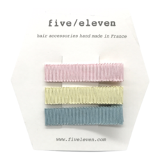 FIVE-ELEVEN FIVE-ELEVEN 3 CLIPS PASTEL
