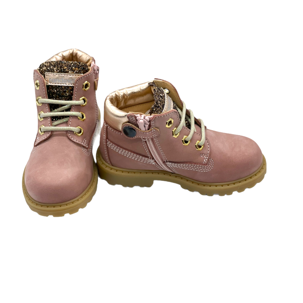 RONDINELLA RONDINELLA T BOOT OLD PINK PAILLETTES