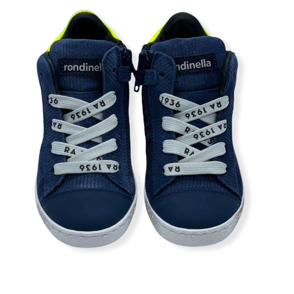 RONDINELLA RONDINELLA SNEAKER LACE VELOURS BLUE