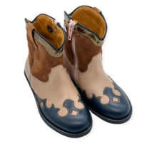 RONDINELLA RONDINELLA COWBOY BOOT PINK CAMEL BLUE