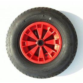 Bolderkar wiel 400-8 rollager rode velg