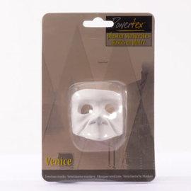 Powertex Venetiaans masker gips Bauta 6x6x4,5cm