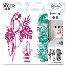 Stempels Decor Tropical