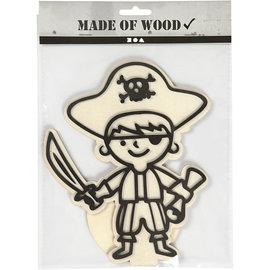 Figuur om te decoreren piraat 19cm