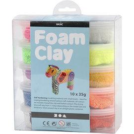 Foam Clay - Assortiment, 10x35 gr, kleuren assorti