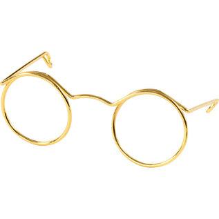 Bril, b: 50mm, gatgrootte 17mm, 10 stuks, goud