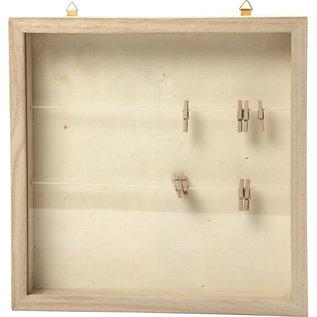 3D lijst, afm 23x23 cm, diepte 35 mm, 1 stuk, Keizerin boom