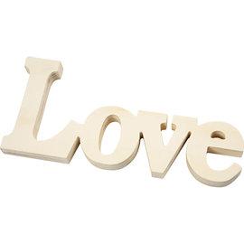 "Decoratie Woord ""Love"" afm 23x10cm, dikte 15mm"