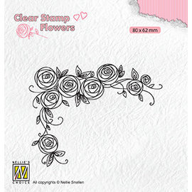 Clear stamp, Flowers Roses Corner