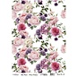 Cadence rijstpapier nr.611 Vintage rozen roze en lila