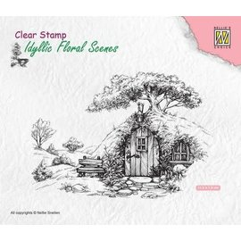 Clear Stamp Idyllic Floral Scenes - Scene with old house