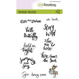 Clearstamps A6 - Sjors Spring quotes