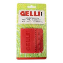 Gelli Arts - Mini printing tool set, 3 delig