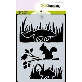 Stencil Magic Forest - Dieren