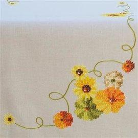 Bedrukt tafelkleed loper zonnebloemen 40x100cm