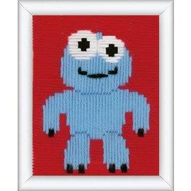 Stitch pen spansteek blauw monsterke