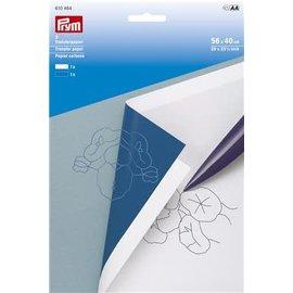 Transferpapier 56x40cm wit - blauw