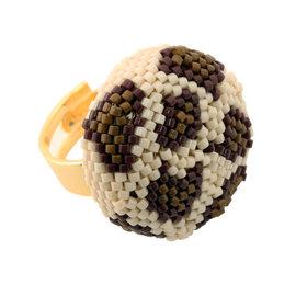 Kit ring Leopard beige-marron-or