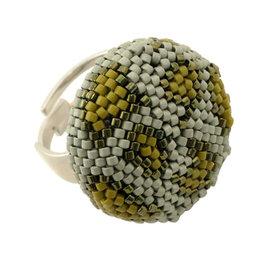 Kit ring Leopard kaki-argent