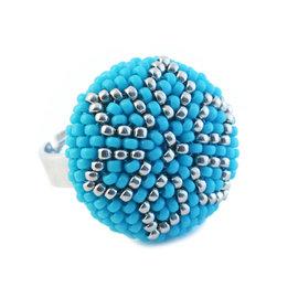Kit ring Zenith blue turquoise-argent