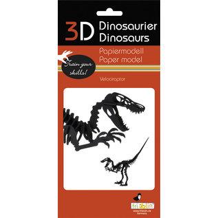 3D Papiermodell, Velociraptor
