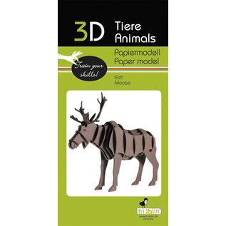 3D Papiermodell, Elch