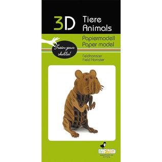 3D Papiermodell, Field Hamster