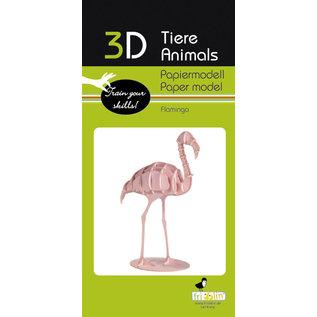 3D Papiermodell, Flamingo