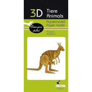 3D Papiermodell, Kangaroo